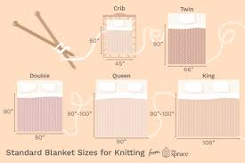standard blanket sizes for knitting
