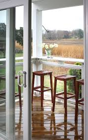 backless bar stools porch traditional with indoor outdoor glass sliding door
