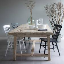 reclaimed elm trestle dining table