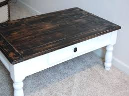 refinishing coffee table ideas coffee table painted antique white and distressed wood coffee table rustic coffee