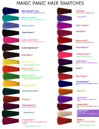 Manic Panic Blue Color Chart Colorful Hair Swatches Google Search Hair Color Hair