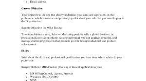 100 Mba Freshers Resume Format Free Resume Templates It
