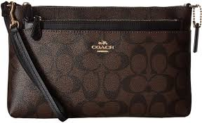 COACH Signature Pop Wristlet for Women, Brown