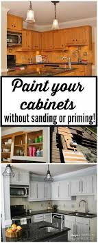 how to paint kitchen cabinets without sanding or priming step by design from sanding cabinets for