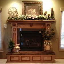 Charming Image Of Home Interior Design And Decoration With Various Stone  Fireplace : Entrancing Picture Of