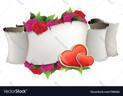 Pictures Of Hearts And Flowers Paper Scroll With Hearts And Flowers