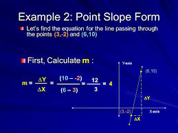 example 2 point slope form