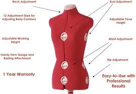 dress makers form amazon com singer 12 dial adjustable dress form large red