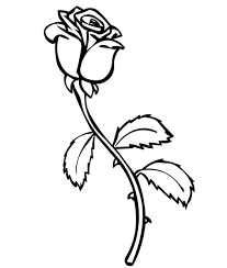 For kids, they commonly color the rose simply with only red on the flower part and green one the stalk and leaves. Free Printable Roses Coloring Pages For Kids