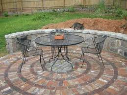round patio. Effective Lovely Round Brick Patio Designs On Circular Block Paving Patterns A