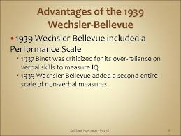 Wechsler Iq Test Scores Chart Theories Of Intelligence Ii The Wechsler Scales Psy