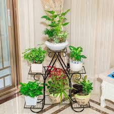 83cm big size european balcony indoor flower pot holder garden flower stand  iron flower pergolas white
