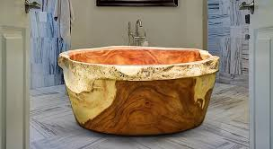 toronto is it possible to make a solid wood bathtub out of a single three ton mass of wood without glue or and can it be done sustainably