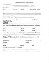 Medical Form For Child Medical Form Templates - Weddingsinger On The ...