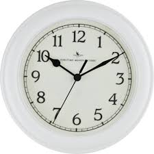 firstime 10044 8 5 inch white round essential wall clock