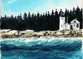 Downeast Tide Chart Amazon Com Narraguagus Lighthouse Pond Island Narraguagus