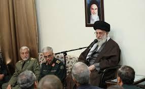 Image result for رهبر انقلاب در دیدار جمعی از فرماندهان ارشد نیروهای مسلح: