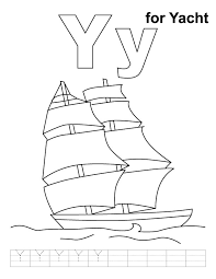 Small Picture Y for yacht coloring page with handwriting practice Download