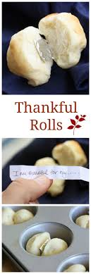 Thankful Rolls - a fun way to liven up the conversation at the Thanksgiving  table.