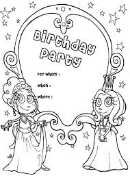 Small Picture Happy Birthday Party Invitation Coloring Page Color Luna