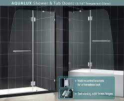 bathtub with glass doors frameless looking for a modern tub door bathtub glass door frameless