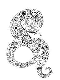 Small Picture The snake by oliv Animals Coloring pages for adults JustColor