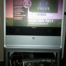 samsung tv back. used samsung flat screen fat back tv