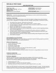 Bank Teller Experience Resume Gorgeous Teller Job Description For Resume Luxury Resume Vs Cv Awesome