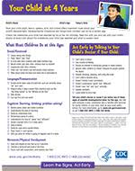 Important Milestones Your Baby By Four Years Cdc