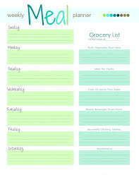 Dinner Menu Template Free Printable Meal Planner Kitchen Set Best ...