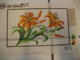 Details About Vintage Margot De Paris Needlepoint Canvas Flowers Leaves Color Chart