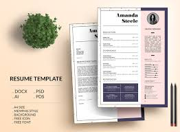 Memphis Resume Template Cv Template Letterhead By