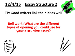discursive essay writing ppt  12 4 15 essay structure 2