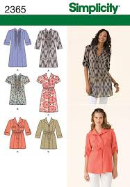 Tunic Top Patterns Best Simplicity 48 Misses' Tunic Top