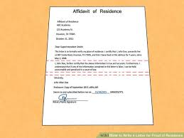 Proof Of Residency Letter Notarized Hunecompany Com