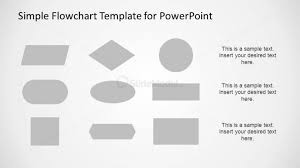 Grey Flowchart Shapes For Powerpoint Slidemodel