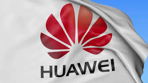 huawei logo. close up of waving flag with huawei logo, seamless loop, blue background. editorial animation. 4k prores, alpha motion background - videoblocks logo