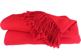 Red Blankets And Throws