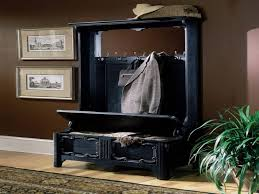 Decorating Beautify Your Lovely Interior Design With Hall Tree Black Hall Bench