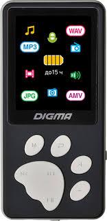 <b>MP3 плеер Digma S4</b> 8Gb, черный — купить в интернет-магазине ...