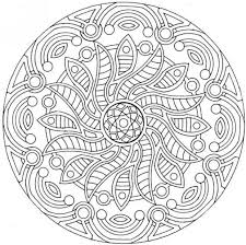 Small Picture Free Printable Mandala Coloring Pages Complex Mandala Coloring