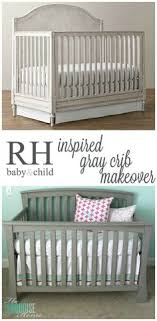 painted baby furniture. Restoration Hardware Baby And Child Inspired Gray Crib Makeover | TheTurquoiseHome.com Painted Furniture S