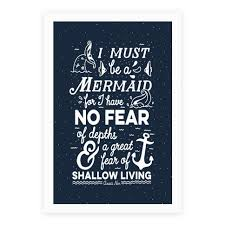 Inspirational Quote Beauteous I Must Be A Mermaid Inspirational Quote Poster LookHUMAN