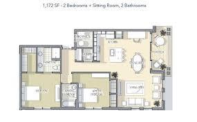 2 Bed / 2 Bath   Option C   The Rivers Edge Luxury Apartments