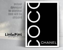 chanel art. chanel, coco chanel print, black printable, wall art ,