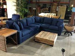 blue leather sectional sofa with chaise great on living room
