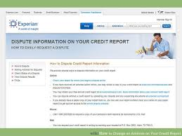 3 Ways To Change An Address On Your Credit Report Wikihow