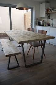 industrial kitchen table furniture. john lewis calia style vintage industrial rustic reclaimed top dining table kitchen furniture
