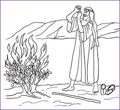 Small Picture Moses And The Burning Bush Coloring Page glumme