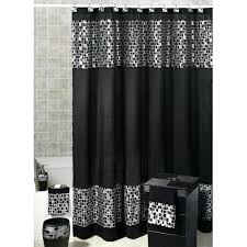 full image for fabric shower curtains 7 beautiful decoration also elegant black mosaic patterned hunter green